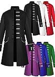 Mens Velvet Vintage Tailcoat Jacket Goth Long