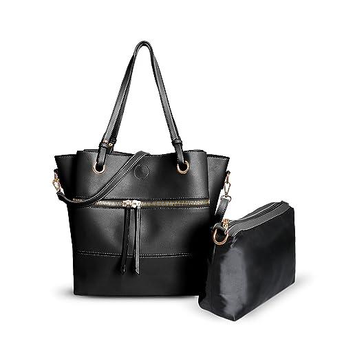 53732e6d91 Ladies Designer Faux Leather Bag in a Bag - Women s Shoulder Bag Bucket  Handbag GL4720 (