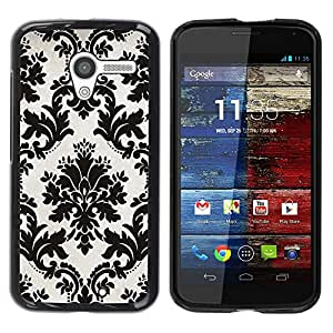 Be Good Phone Accessory // Dura Cáscara cubierta Protectora Caso Carcasa Funda de Protección para Motorola Moto X 1 1st GEN I XT1058 XT1053 XT1052 XT1056 XT1060 XT1055 // White Blac