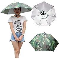 Generic 5, S : 2017 Outdoor Sports 69cm Umbrella Hat Cap Folding Women Men Umbrella Fishing Hiking Golf Beach Headwear Handsfree Umbrella