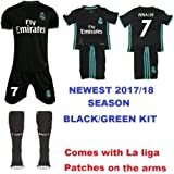 REAL MADRID 2017/18 KIDS CHEAP *REPLICA * KIT WITH FAMOUS PLAYER NAME AND NUMBER