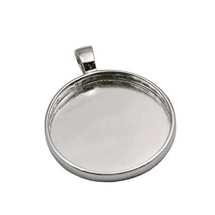 Amazon 925 sterling silver pendant settings blanks cabochon 925 sterling silver pendant settings blanks cabochon pendant tray for jewelry making platina plated aloadofball Images