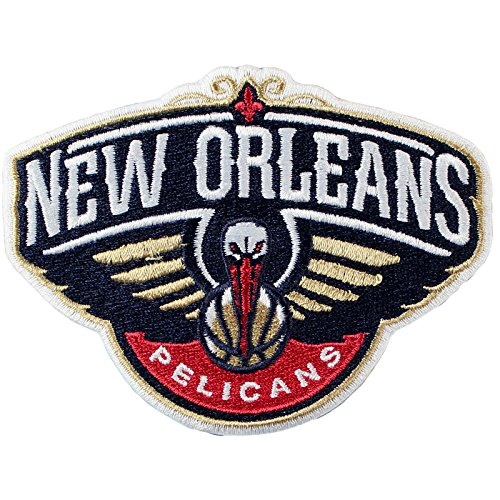 Official New Orleans Pelicans Logo Large Sticker Iron On NBA Basketball Patch Emblem by Patch Collection