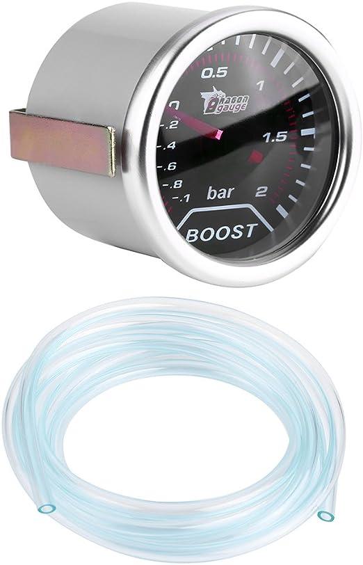 Indicatore di pressione Turbo Turbo universale Indicatore di pressione Puntatore a barra a led rosso per auto 12V TOYOY 2 pollici 50 mm