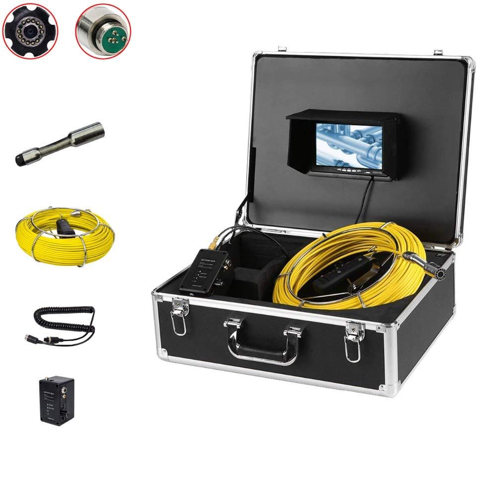 20Mのガラス繊維ケーブル23mmのカメラの頭部が付いている7インチのモニターのヘビの管の点検カメラシステム