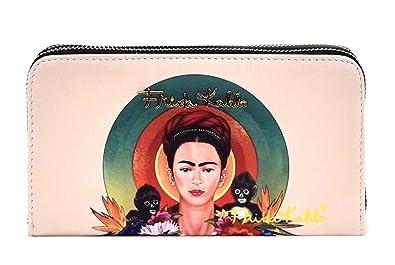 fdd5c2b0a7fab Amazon.com  Frida Kahlo Monkeys and Circles Collection Wallet (Black ...