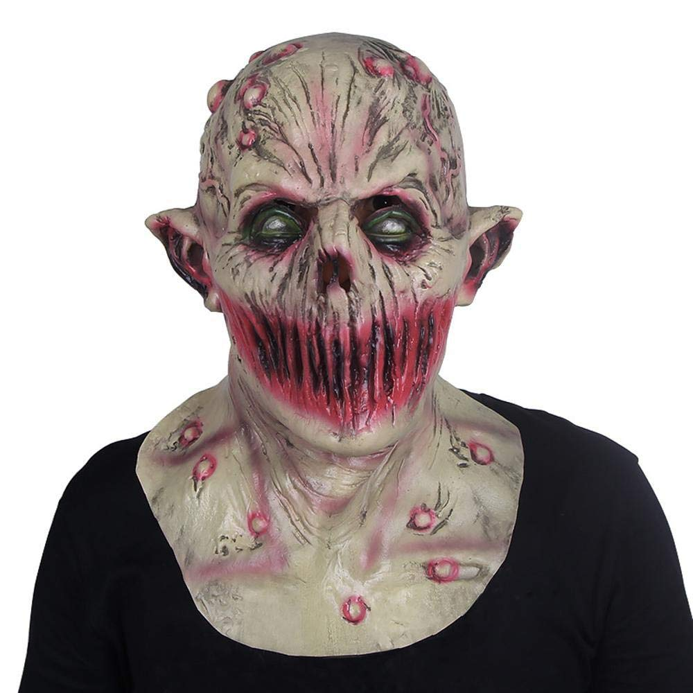 LXIANGP Halloween Latex Mask Headgear Horror Scary Scary Scary Realistic Movie Theme Party Ball Props ec4da6