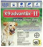 Advantix II K9 Flea Tick & Mosquito Treatment Extra Large Dog Over 55 lbs -- 4 Tubes