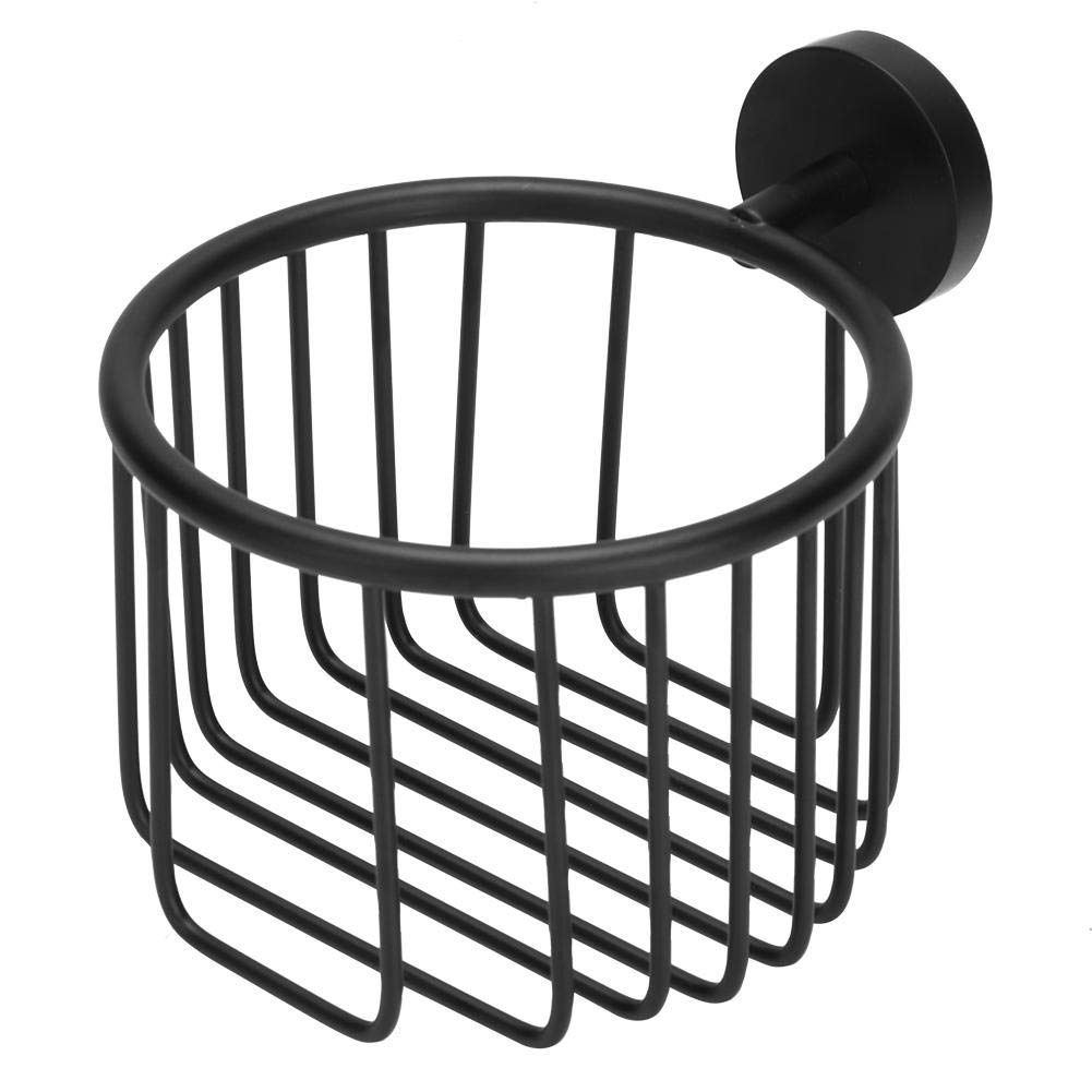 Jacksking Paper Basket, Wall Mounted Toilet Paper Holder Organizer Roll Tissue Holder Storage Bin Home Hotel Bathroom Accessories(Black) by Jacksking