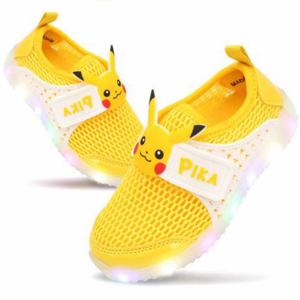 Pokemon Pikachu Boys LED Light up Summer Mesh Sneaker Shoes (Parallel Import/Generic Product) (11 M US Little Kid)