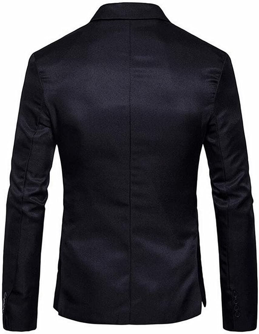 SHOWNO Mens Casual Business Slim 2 Button Solid Color Dress Blazer Jacket Sport Coat