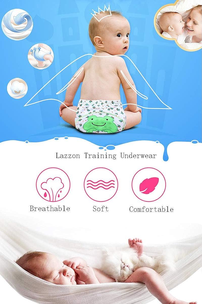 Lazzon Baby Jungen M/ädchen T/öpfchentraining Unterw/äsche Baumwolle Waschbar Trainerhosen Unterhosen f/ür Baby 1 bis 3 Jahre