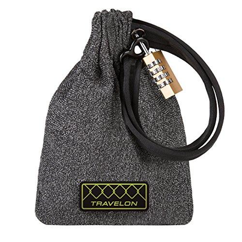 510 Lock - Travelon Anti-theft Lockdown Bag - Medium, Gray