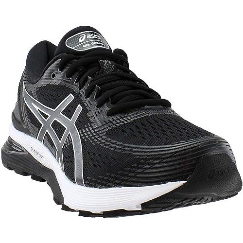 dfb753c74062e ASICS - Mens Gel-Nimbus 21 (2E) Shoes, 6.5 2E UK, Black/Dark Grey