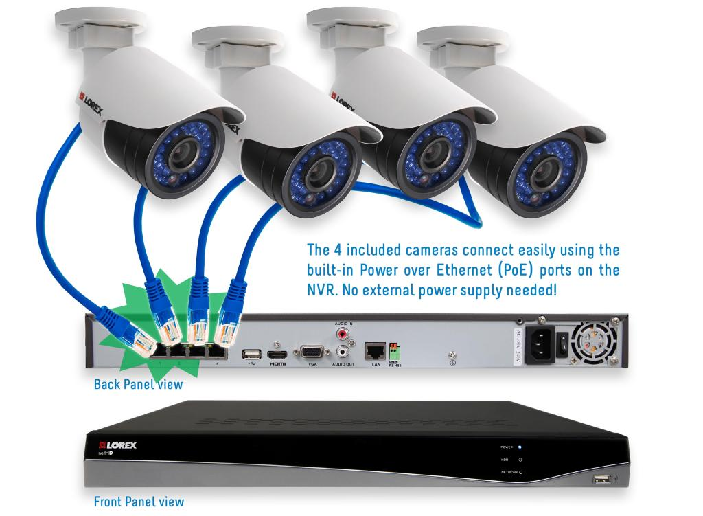 Amazon.com : Lorex LNR341C4B 4-Channel 1TB NVR 4 x 1080p