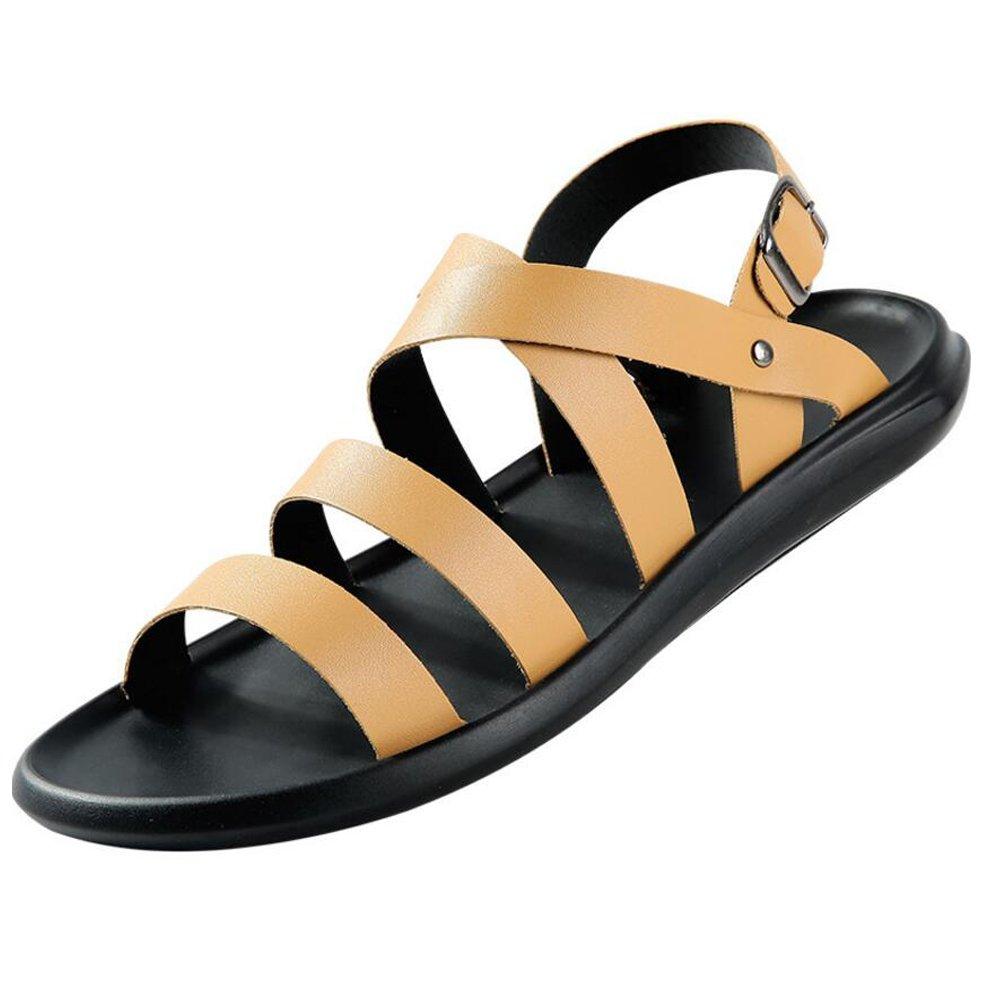 GAOLIXIA Herrenschuhe PU Sommer Komfort Sandalen Wanderschuhe für Casual Schwarz Gelb Weiß Braun (Farbe   braun, Größe   38)