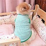 Naladoo Fashion Pet Stripe Vest Puppy Cotton Jacket Shirt Cute Dog Cat Clothes