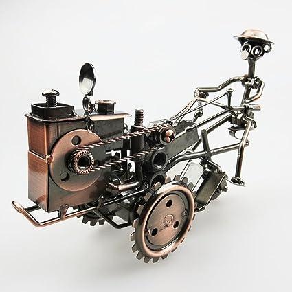 Hecho A Mano De Metal Antiguo Walking Tractor Modelo De Colección ...