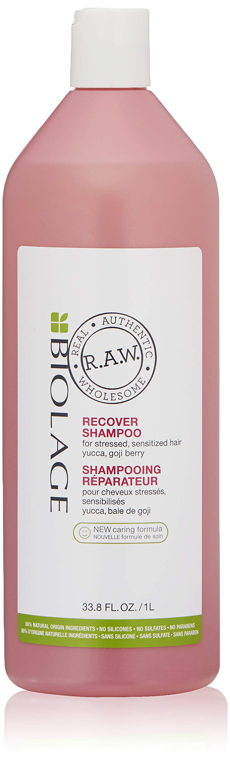 BIOLAGE R.A.W. Recover Shampoo for Stressed, Sulfate Free, Sensitized Hair with Yucca and Goji Berry, Sulfate Free, 33.8 fl. oz. by BIOLAGE