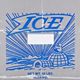 10 lb. Clear Plastic Ice Bag with Twist Ties