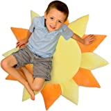 Floor Bloom Soft and Cozy Sun Floor Pillow for Kids (Extra Large - Skyward Collection)