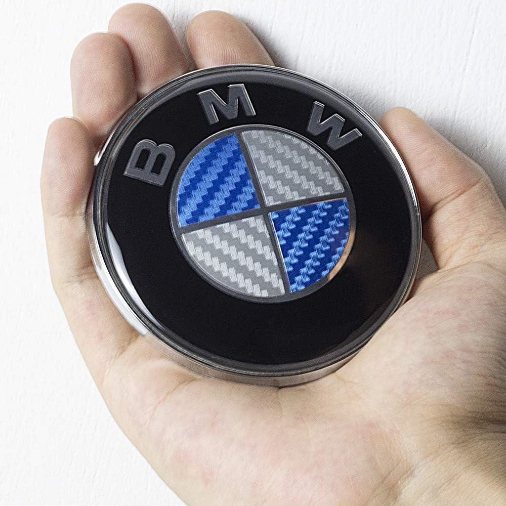 Black Jerock Emblem for BMW 82mm 74mm Logo Replacement Hood and Trunk Roundel Emblem Accessories Compatible with Most Models BMW E30 E46 E39 E65 F31 F32 F33 F36 F83 325i 328i 3 2 pack