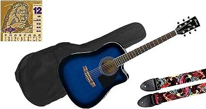 Ibanez pf15ece TBS guitarra acústica/bolsa/con Correa para el ...