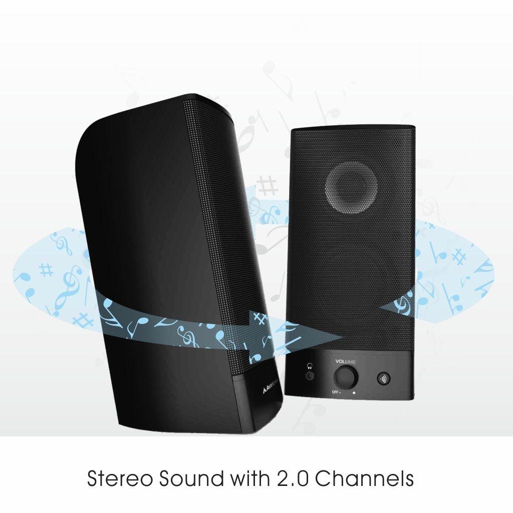 Avantree Desktop Bluetooth PC Computer Speakers, Wireless & Wired 2-in-1, Superb Stereo Audio, AC Powered 3.5mm/RCA Multimedia External Speakers for Laptop, Mac, TV - SP750 [2 Year Warranty] by Avantree (Image #4)