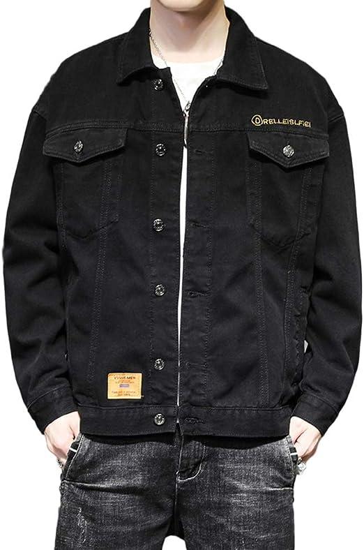 [YUANYUAN] 春と秋の服 コート メンズジャケット ジャケット メンズジャケット デニムジャケット メンズデニムジャケット 日本のデニムジャケット カジュアル ルーズ 春と秋のジャケット