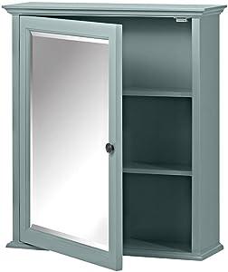 Home Decorators Collection Hamilton Framed Surface-Mount Bathroom Medicine Cabinet in Sea Glass