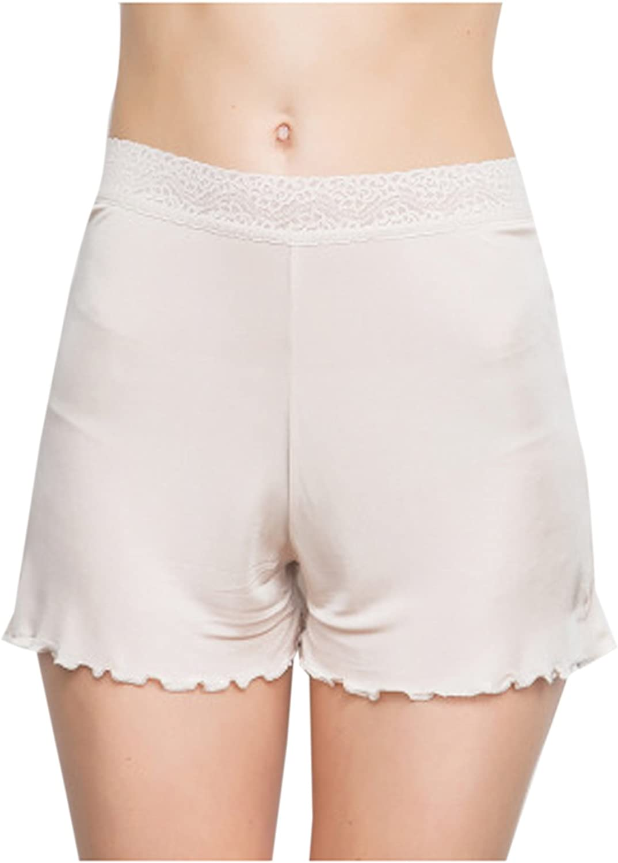 Zinmuwa Le Donne Breve Tratto Seta Ultra Sottile Boyshort Panty Leggings