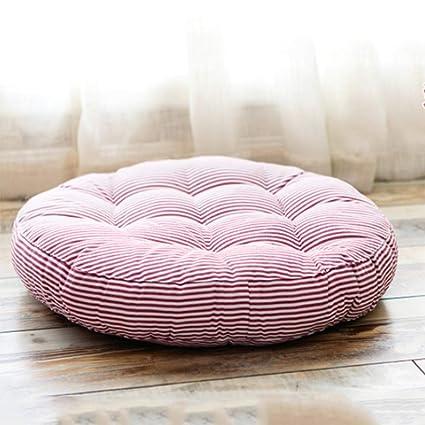 Amazon Com Redsun Cotton Linen Round Chair Cushion Floor Pillow