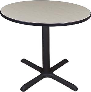 """Regency Cali Round Breakroom Table, 36"""", Light Maple"""