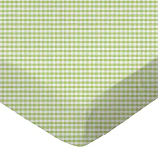 product image for SheetWorld Fitted Sheet (Fits BabyBjorn Travel Crib Light) - Sage Gingham Jersey Knit - Made In USA