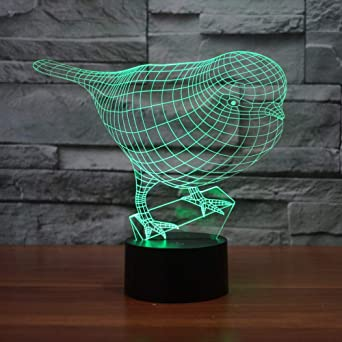 wangZJ 3d Illusion Dolphin Play Ball Led Mesa de escritorio ...