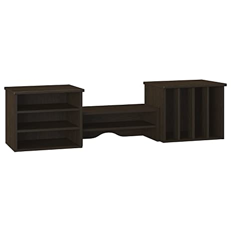 Bush Furniture Kathy Ireland Office Volcano Dusk Desktop Hutch, Kona Coast  Espresso Finish