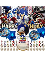 Sonic Party Supplies   Sonic The Hedgehog   Decorations   Banner   Favors   Birthday   Backdrop   Balloons