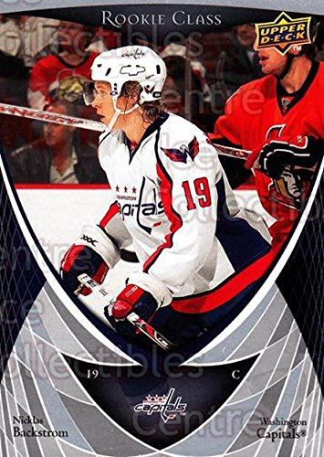 Upper Deck Rookie Class Card - (CI) Nicklas Backstrom Hockey Card 2007-08 Upper Deck Rookie Class (base) 50 Nicklas Backstrom