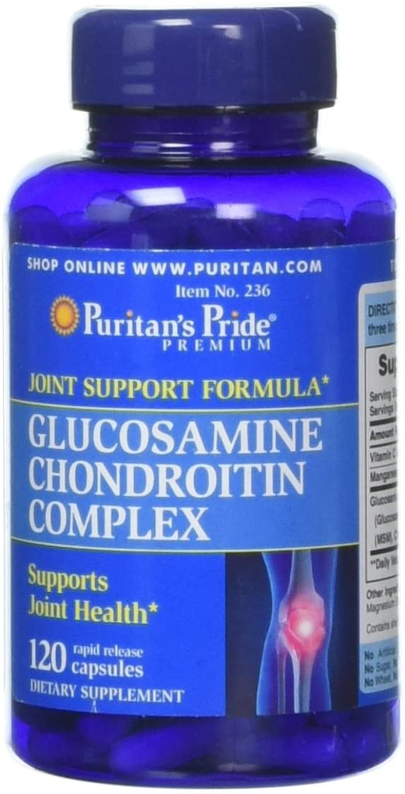 Puritans Pride Glucosamine Chondroitin Complex Capsules, 120 Count