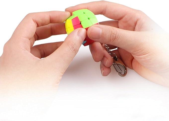 Amazon.com: coogam Qiyi cubeta llavero 3 x 3 Mini bolsillo ...