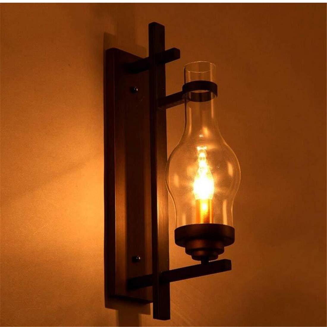 Kunst-Lampen Retrohängelampe Deckenleuchte Kerosinlaterne Wandleuchte Loft Industrielle Wandleuchte Kreative Amerikanische Land Schlafzimmer Nacht Retro Eisen Bar Glas Gang Leuchte