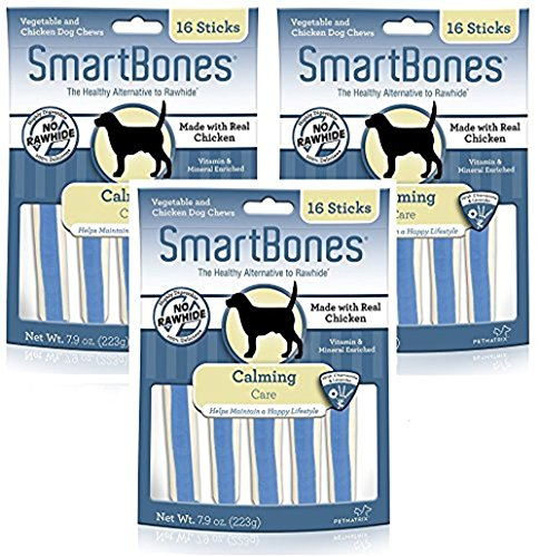 Cheap SmartBones Functional Health Calming Care Chicken Treat Sticks for Dogs (3 Packs with 16 Treats Per Pack / 48 Total)