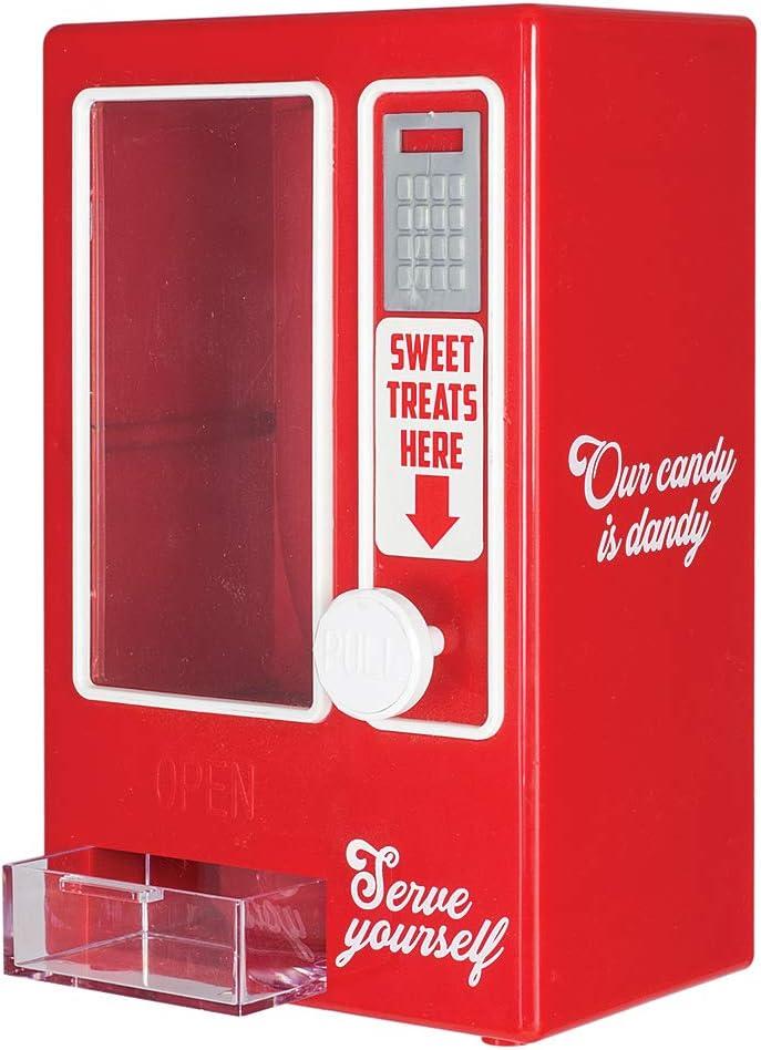 "KOVOT Sweets Vending Machine Tabletop Candy Dispenser | Desktop Candy Dish | Pull The Knob To Dispense Mini Treats | Measures 7.5""H x 5""W x 3.25""D"