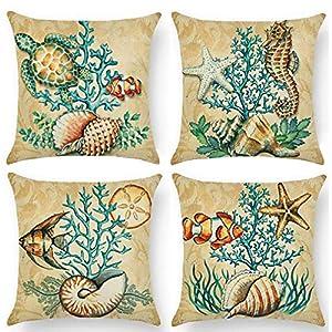 61zjCHMAKIL._SS300_ 100+ Nautical Pillows & Nautical Pillow Covers