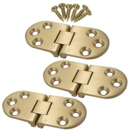 Eforlike 3 Pcs High Quility Solid Brass Home Improvement Folding Table Hinge  Furniture Door Hinge With