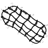 Segolike RC Crawler Luggage Net Roof Rack Net Hooks for 1/10 Axial SCX10 90046 CC01 - black