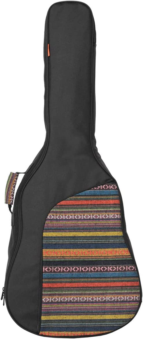 Style 1 Glenmi Acoustic Guitar Case,Soft Sponge Padded 40 41 Inch Black Guitar Gig Bag Backpack with Neck Protector Pillow Pad
