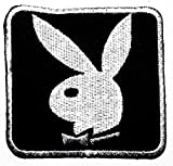Playboy black Bunny Rabbit logo patch Jacket T-shirt Sew Iron on Patch Badge Embroidery