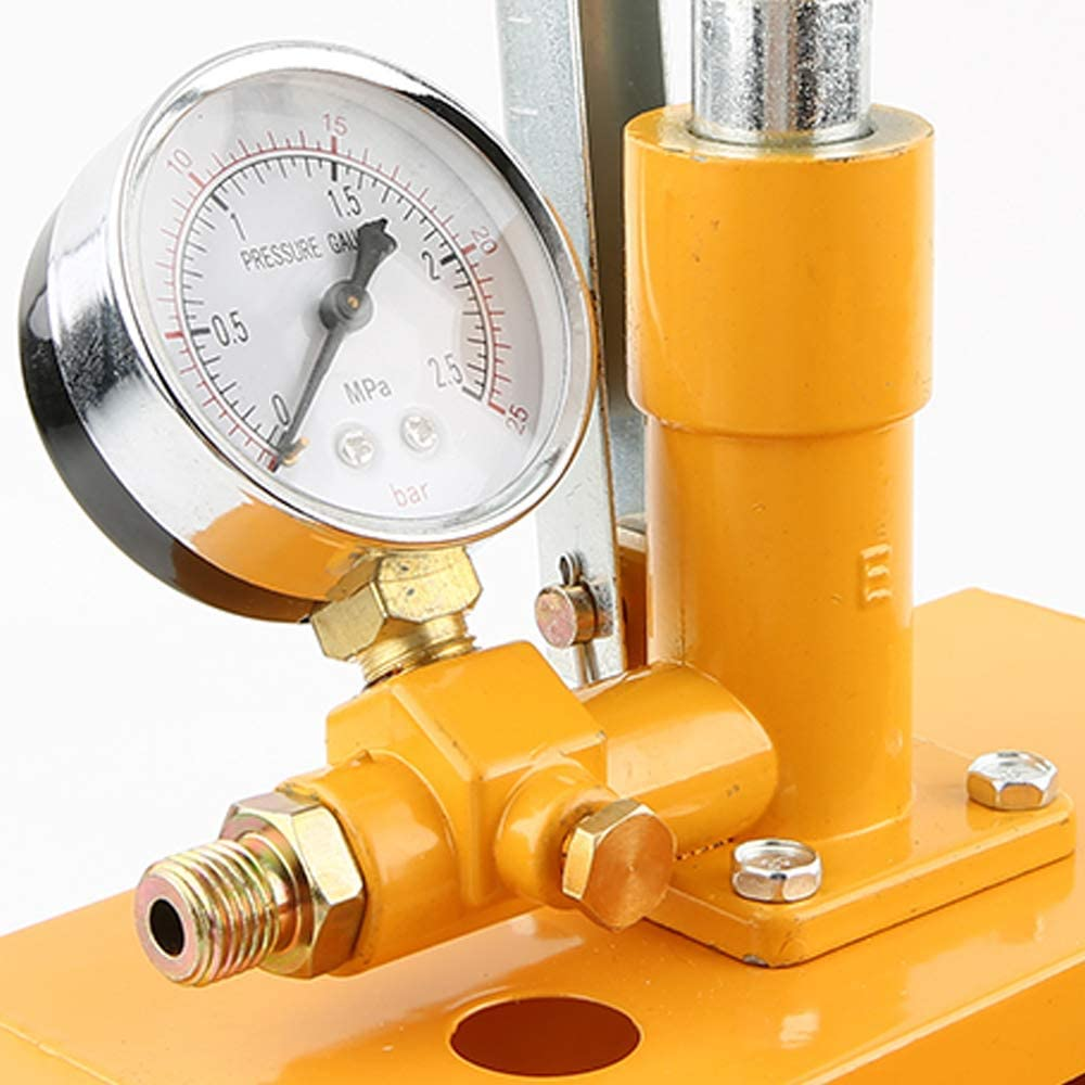 BINGFANG-W Aluminum Water Pressure Tester Aluminum 2.5Mpa 25Kg Water Pressure Tester Manual Hydraulic Test Pump Machine with G1//2 Hose Tools