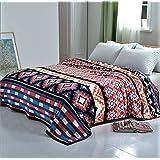 FOHOG High Quality Blanket Throw Bedding (King, SOLARON Flannel NATIVE)